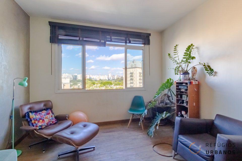 Jardins Paulista, apartamento de 155 m2, 2 quartos/1 suíte, lavabo, ambientes amplos e integrados, janelão com super vista, 1 vaga.