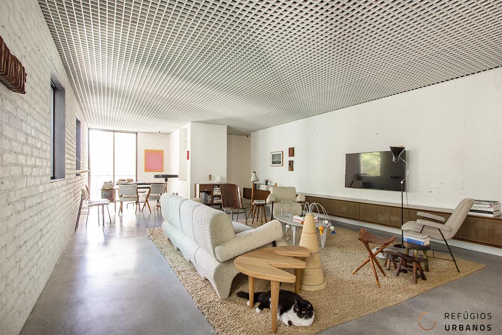 Apartamento contemporâneo em charmoso edifício dos anos 50