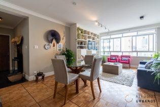 Em Santa Cecilia apartamento com 167 m2 em andar alto cercado de vista livre por todos os lados, reformado, sala ampla, 3 quartos sendo uma suíte e 1 vaga.