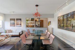 Apartamento com dois quartos sendo uma suíte em uma das melhores localizações de Higienópolis. Sala ampliada e integrada com a cozinha.