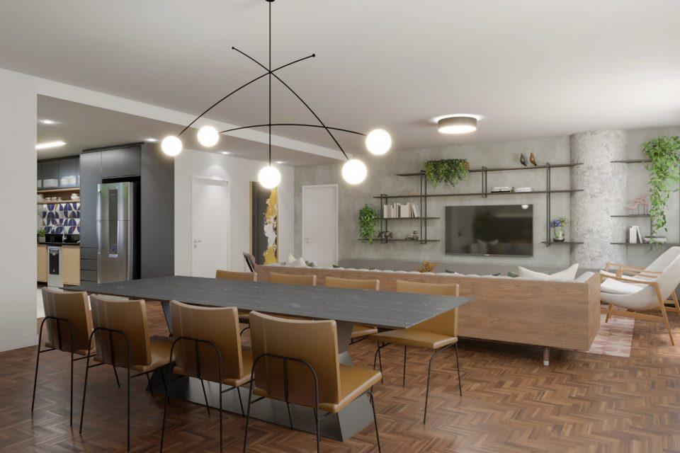 Apartamento reformado em Higienopolis, com incríveis 246m2, 3 quartos sendo 2 suítes, varanda-surpresa e uma vaga a um pulo da Av. Paulista.