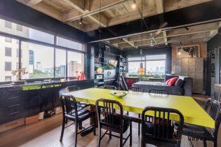Loft descortinado, com 98 metros quadrados de área útil, sendo 1 suite, com uma reforma super descolada e uma vista incrível, no Itaim!
