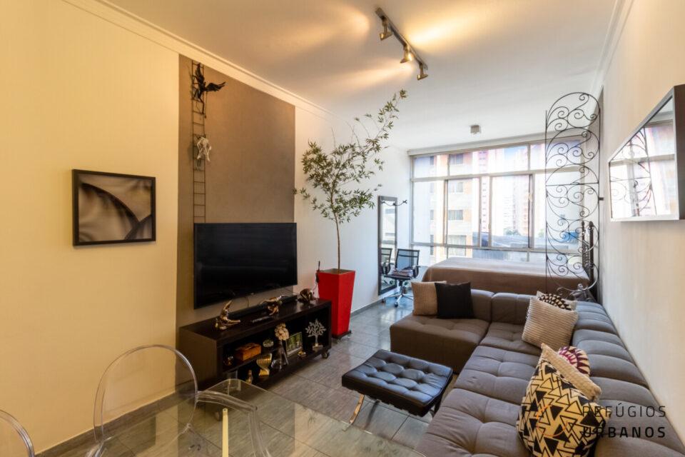Morar bem em Studio de 39,65m² na Avenida São João, Campos Elíseos. Sala-quarto com janelão e a cozinha separada e bem ventilada!
