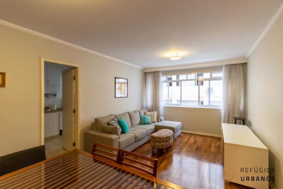 Apartamento de 105 metros quadrados de área útil, com 2 dormitórios e 1 vaga para deixar do seu jeito no Jardim Paulista!