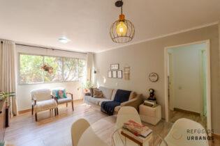 Apartamento de um dormitório com 68,30 m² e uma vaga. Muito espaço pra você na Aureliano Coutinho, super bem localizado na Vila Buarque!