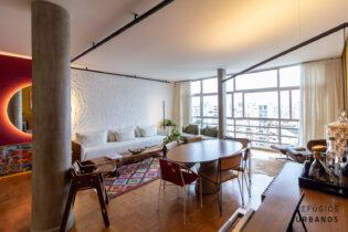 Apartamento na Vila Buarque/Higienopolis com 131m2, reformado, janelão com vistas incríveis da cidade, 2 quartos, sendo uma suite e uma vaga.